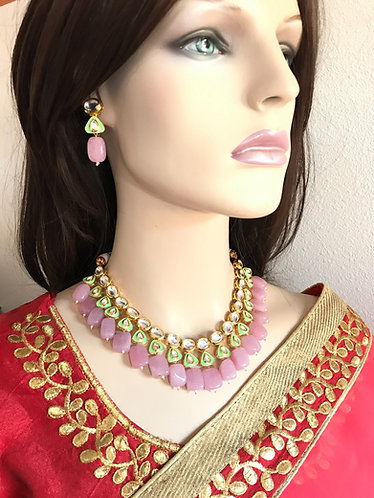 Bollywood gorgeous kundan necklace set for party wear for lady