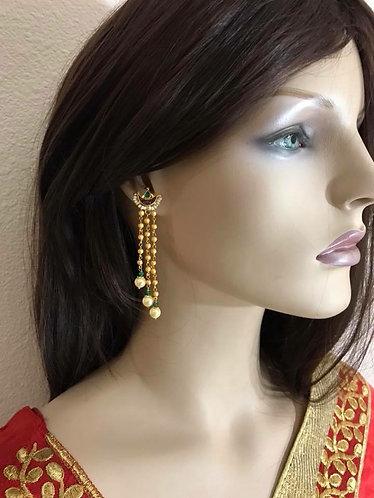 Kundan with pearl earrings high quality