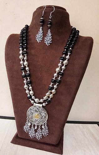 German silver necklace set