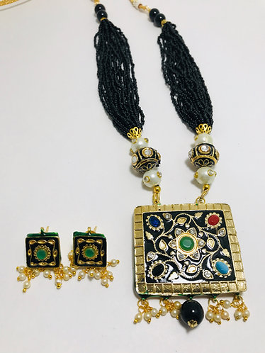 Very good quality  Meena kari Necklace Set with earrings