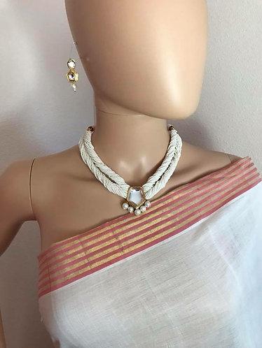 High quality kundan n pearl necklace set