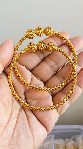 Gold plated bangles 2.4 only