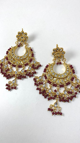 Kundan earring with gorgeous pearl