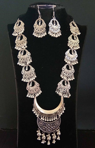 German silver necklace set