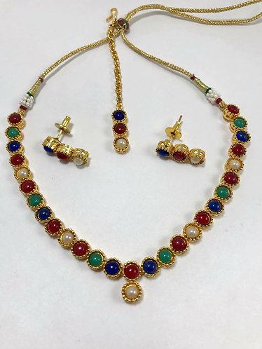 Multicolor necklace set