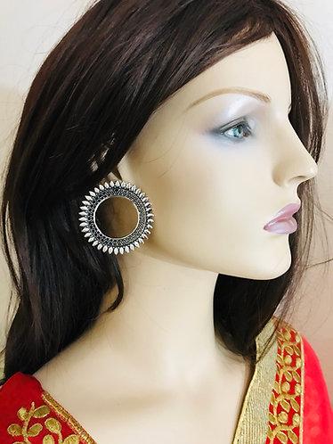 Silver earrings big