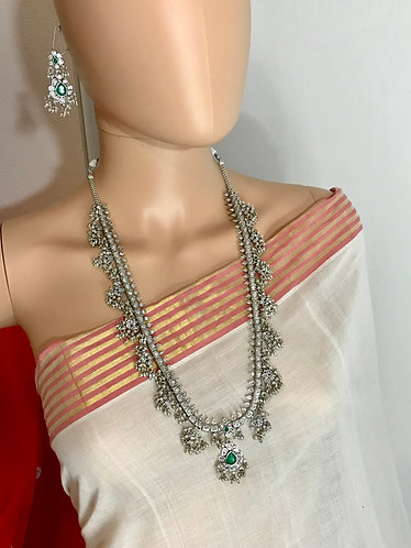 German silver Necklace set Bollywood style for party wear