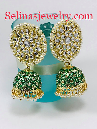 Gorgeous kundan big earrings