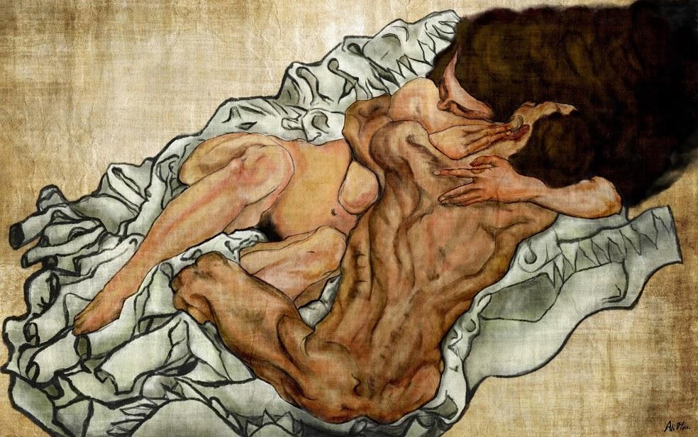 Abbraccio di Schiele