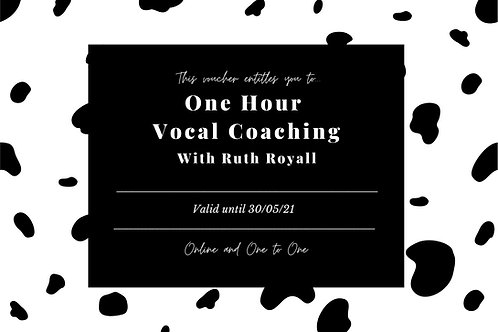 1 Hour Vocal coaching Voucher