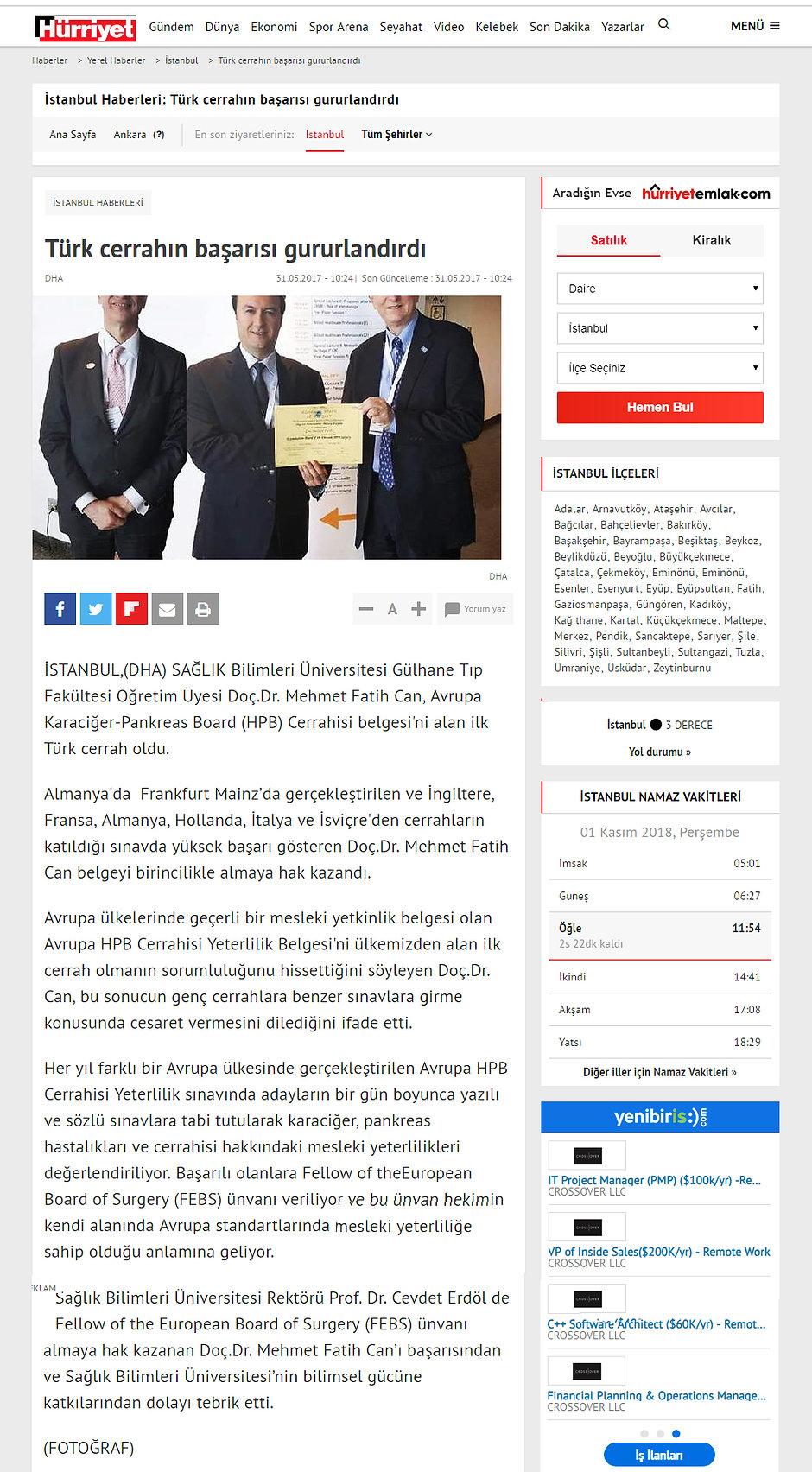 HURRIYET - Türk Cerrahın Başarısı Gururl