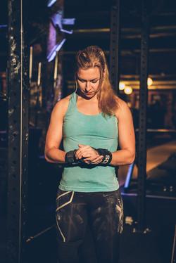 Maria Granberg at the gym