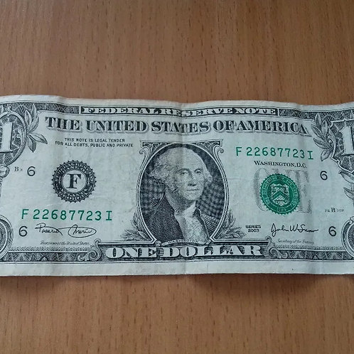 $1 US Dollar Bill