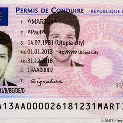 France driver's licence