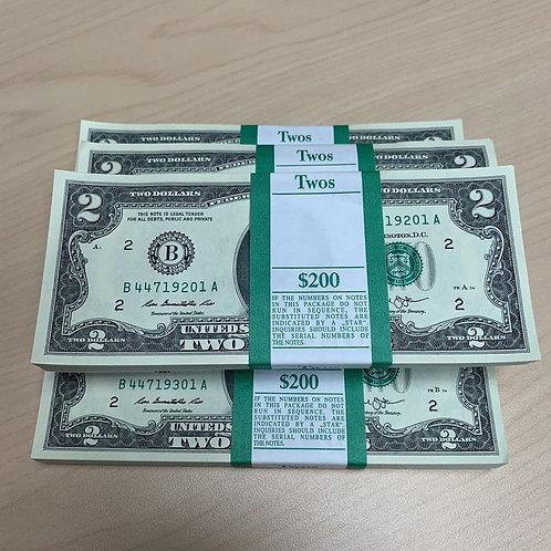 $2 US Dollar Bills