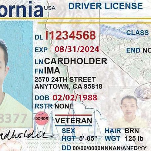 Californian driver license