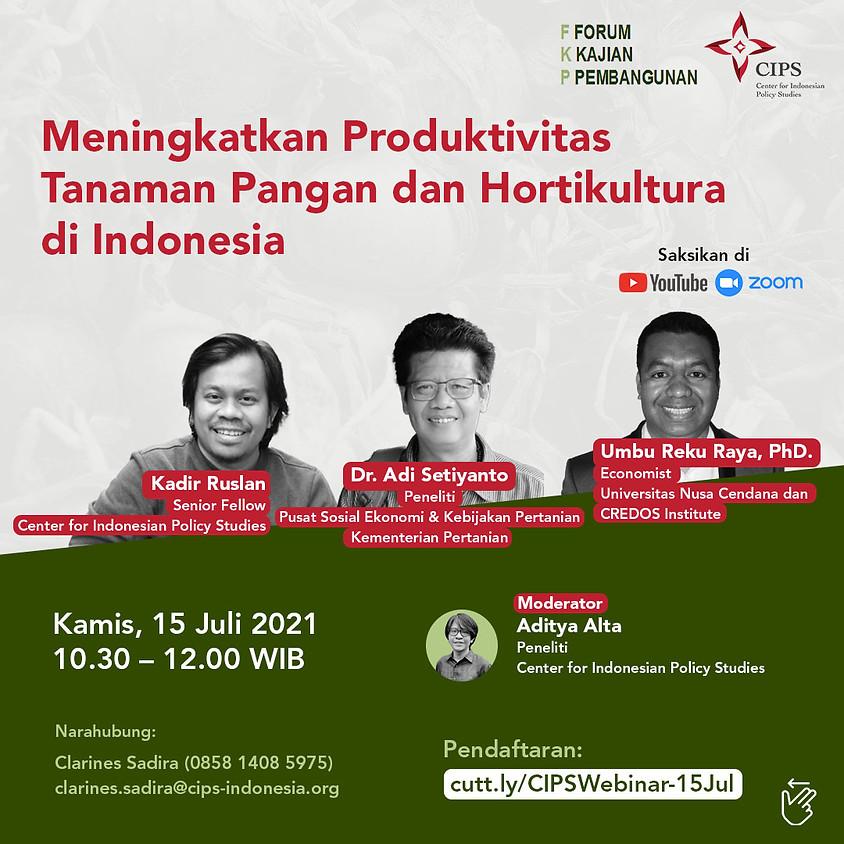 FKP: Meningkatkan Produktivitas Tanaman Pangan dan Hortikultura di Indonesia