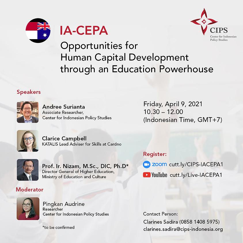 IA-CEPA: Opportunities for Human Capital Development through an Education Powerhouse