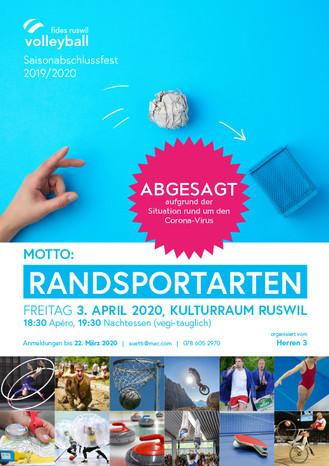 ABGESAGT Saisonabschlussfest 2019/20