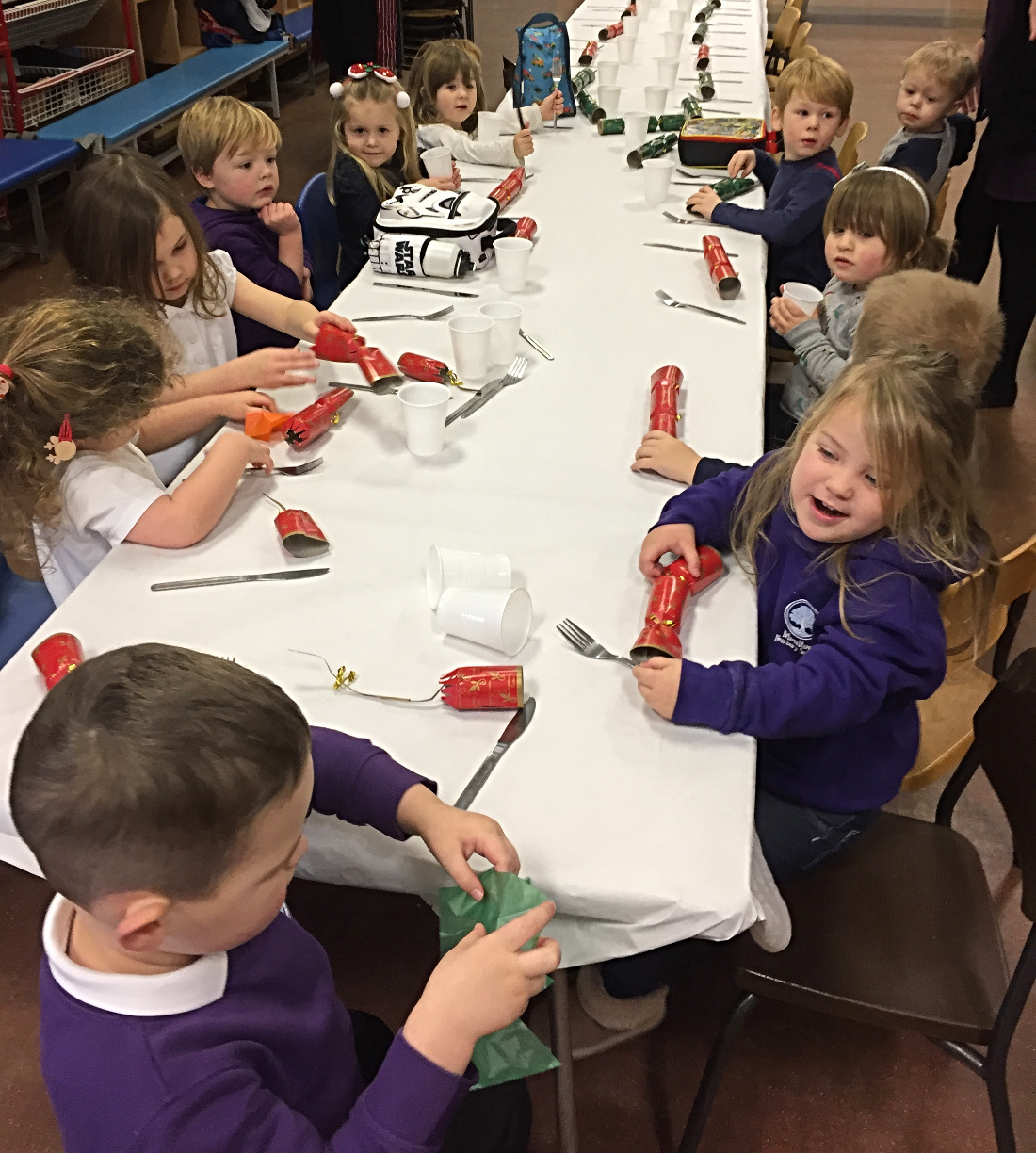 Christmas lunch at school