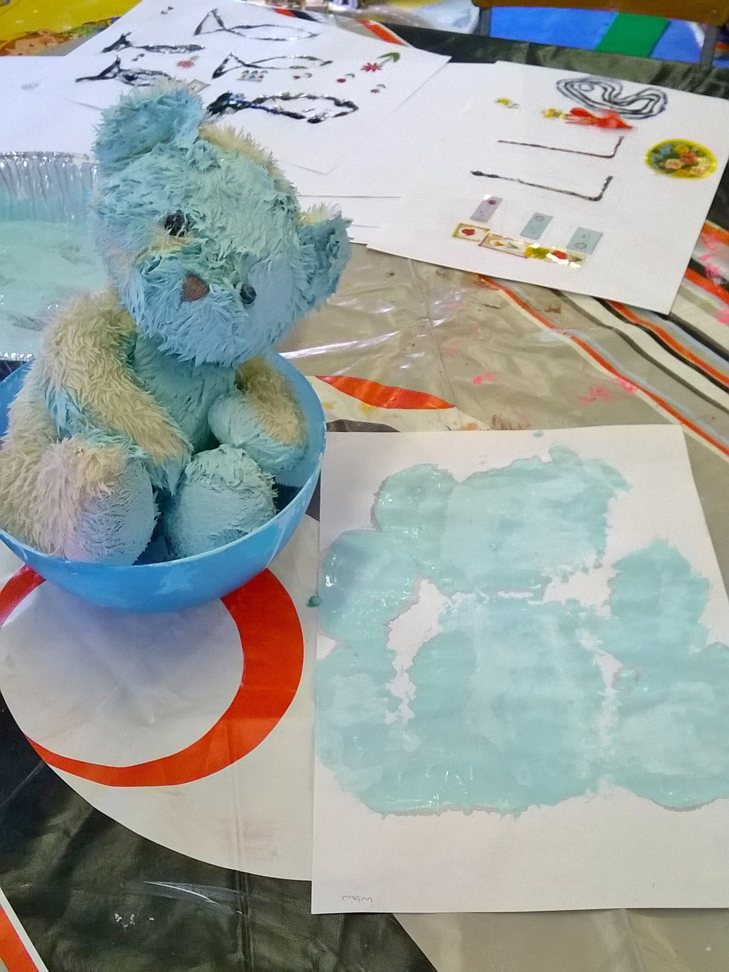 Teddy bear printing