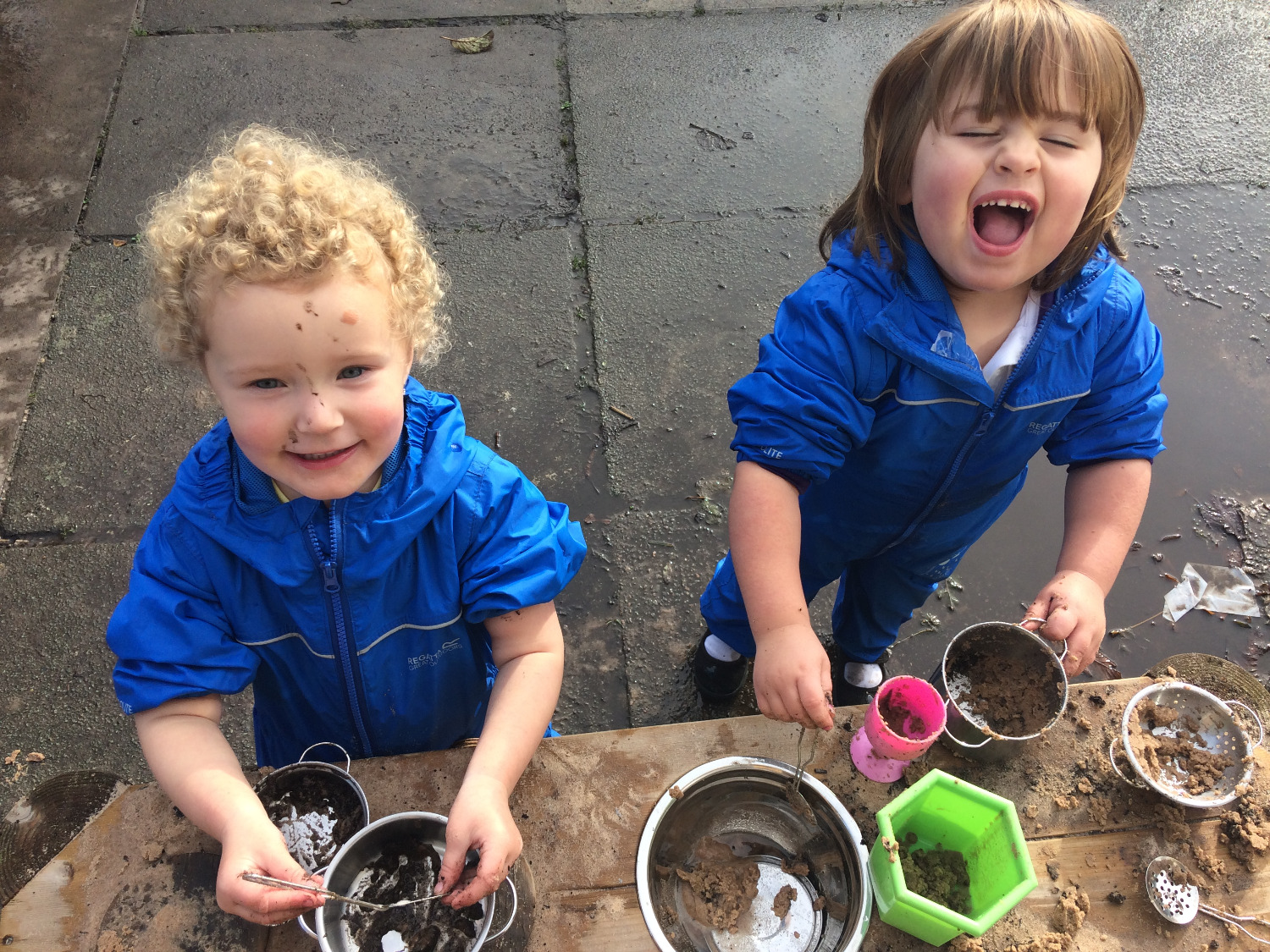 Cooking up fun in the mud kitchen