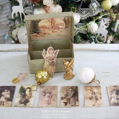 Boîte de Noël Miniature, Maison de Poupée, Échelle 1/12