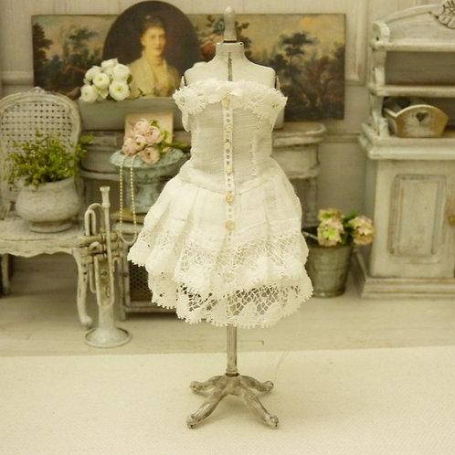 Mannequin de Couture Miniature, Lingerie Corset, Linge Ancien