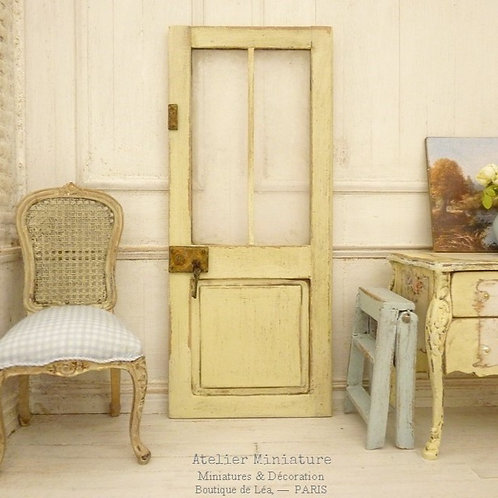 Workshop Door, Yellow Vanilla Shabby Chic, Glass Cathedral, Doll House