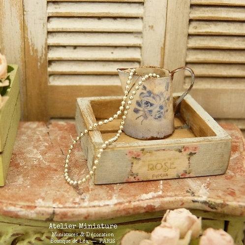 Collier de perles miniature échelle 1/12, Bijouterie de poupée, Maison de Poupée