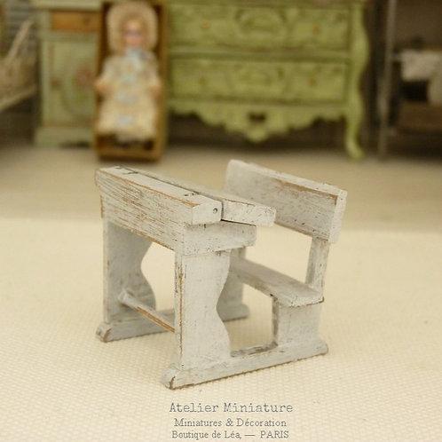 Pupitre en Bois, Échelle 1/24, Miniature, Maison de Poupée
