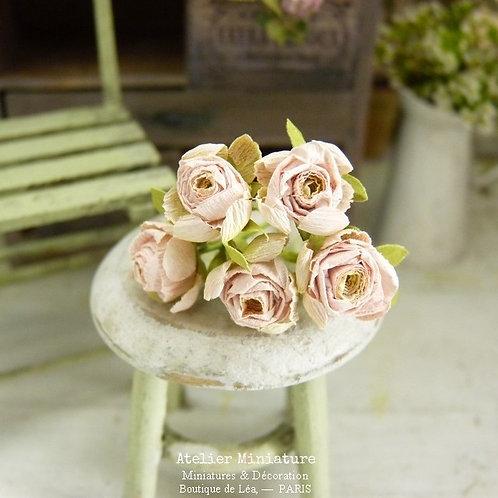 Roses Miniatures, Fleurs en Papier, 100% fait main, Maison de Poupée,5