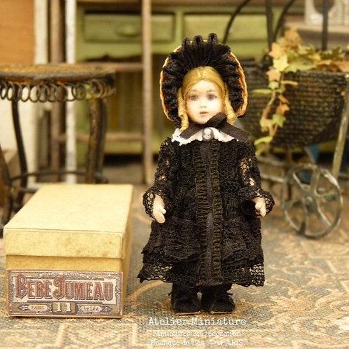 Poupée Miniature, 5,5 cm, style Bébé Jumeau, Échelle 1/12