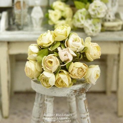 Bouquet de Roses Jaunes Miniatures, Fleurs en Papier, 100% fait main