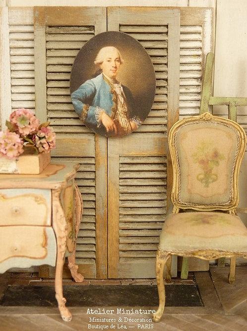 Panneau Ovale Miniature en Bois, Maison de Poupée 1/12