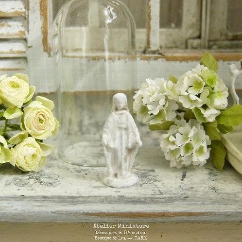 Statuette de Sainte-Marie, Shabby Blanc