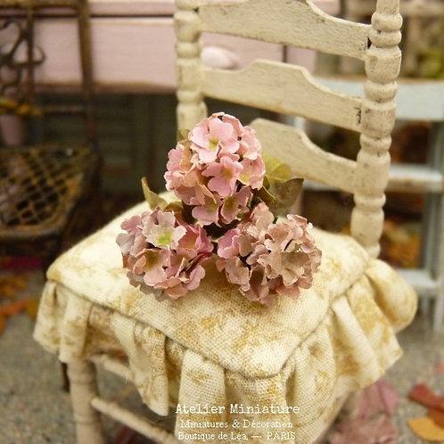 Hortensias Miniatures d'Automne, Fleurs en Papier, 100% fait main, 1/