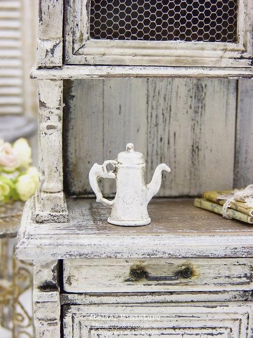 Cafetière Décorative, Shabby Blanc