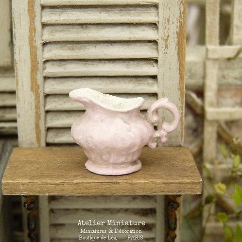 Pichet Miniature Victorien Rose, Shabby Chic