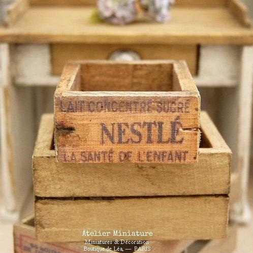 Cagette Miniature en Bois, Publicité Vintage, Échelle 1/12