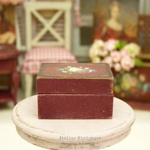 Boîte Coffret Miniature en Bois, Maison de Poupée, Échelle 1/12