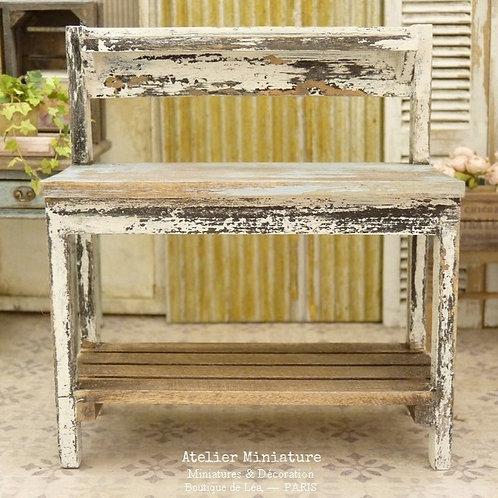 Table de Rempotage, Jardin Miniature, Échelle 1/12