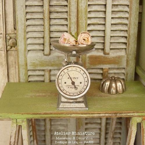 Balance de Cuisine Vintage en Métal, Shabby Industriel, Maison de Pou