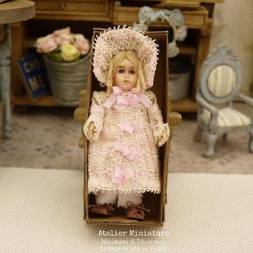 Poupée miniature, 5,5 cm, style BRU, Échelle 1/12