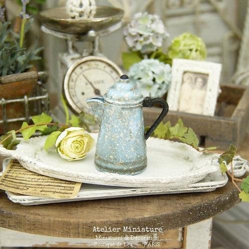 Cafetière Décorative Bleue