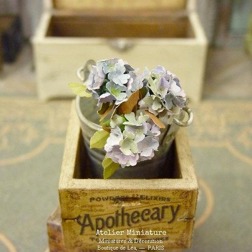 3 Hortensias Miniatures d'Automne, Fleurs en Papier,100% fait main, 1/1