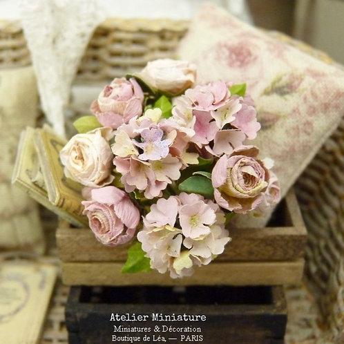 Bouquet de Fleurs (tons roses), Fleurs en Papier, 100% fait ma