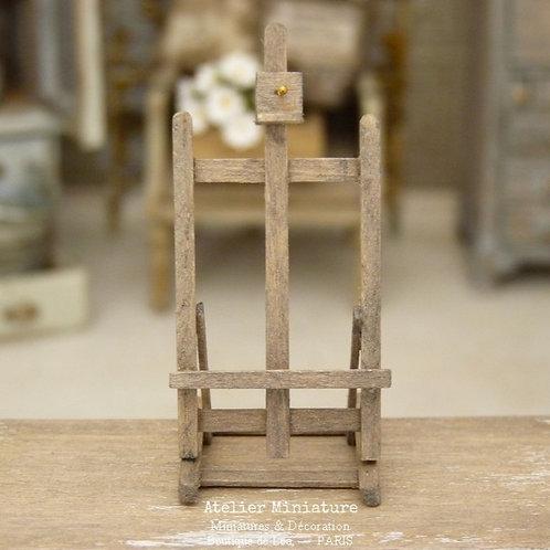 Chevalet de Table Miniature en Bois Vieilli, Échelle 1/12