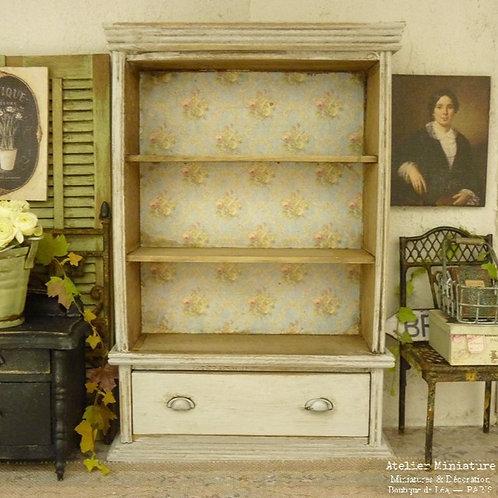 Bibliothèque miniature en bois, Mobilier de maison de Poupée, 1