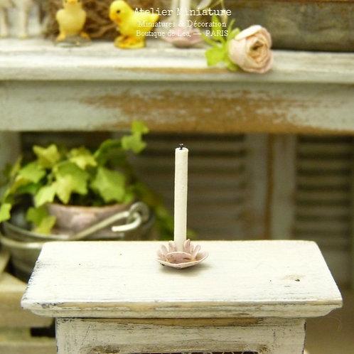 Bougeoir Miniature en Métal, Maison de Poupée, Échelle 1/12